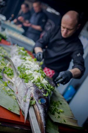 vis bereiden catering